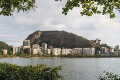 Rio De Janeiro luksusowi mieszkania blisko Lagoa Rodrigo De Freitas obraz stock