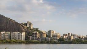 Rio De Janeiro luksusowi mieszkania blisko Lagoa Rodrigo De Freitas obrazy royalty free