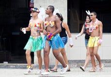 RIO DE JANEIRO, LUTY - 9: Podczas ca młodzi ludzie w kostiumy Fotografia Royalty Free