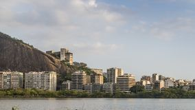 Rio de Janeiro luxury apartments near Lagoa Rodrigo de Freitas royalty free stock images