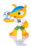 RIO DE JANEIRO - MAY 18, 2014: Fuleco plastic mascot. Fuleco is Royalty Free Stock Images
