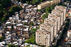 Rio De Janeiro Miastowy kontrast obrazy royalty free