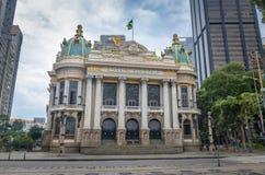Rio De Janeiro Miejski Theatre - Rio De Janeiro, Brazylia zdjęcia stock