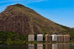 Rio de Janeiro Mountains Around Lagoon Stock Image