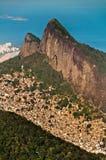 Rio de Janeiro Mountains, Urban Aereas, Ocean in the Horizon Stock Photos