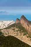 Rio de Janeiro Mountains, Urban Aereas, Ocean in the Horizon Royalty Free Stock Photography
