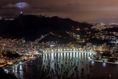 Rio de Janeiro nachts Stockfoto