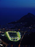 Rio de Janeiro at night. Wight the jockey club track iluminated Stock Photo