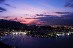 Rio de Janeiro at night. As seen from sugarloaf mountain Stock Photos
