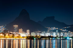 Rio de Janeiro at Night Stock Images