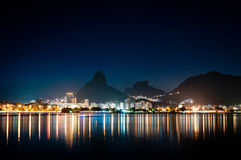Rio de Janeiro at Night Royalty Free Stock Images