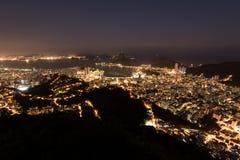Rio de Janeiro at Night Stock Image