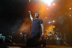 Maroon 5. Rio de Janeiro, November 19, 2009 Royalty Free Stock Photo