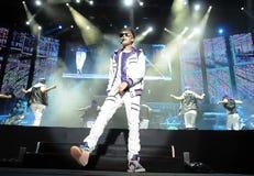 Justin Bieber. Rio de Janeiro, October 5, 2011. Singer Justin Bieber performs during his show at Engenhão Stadium in Rio de Janeiro, Brazil royalty free stock photos