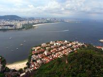 Rio De Janeiro od Sugarloaf góry, Brazylia fotografia royalty free