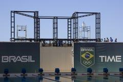 Rio de Janeiro 2016 olympiska mötesplatser: Maria Lenk Aquatic Center royaltyfri fotografi