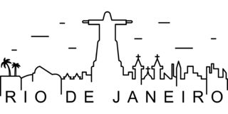 Rio De Janeiro outline icon. Can be used for web, logo, mobile app, UI, UX stock illustration