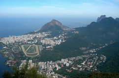Rio de Janeiro panorama. Rio de Janeiro, the city of the 2016 Olympiad, aerial view photographed from the Corcovado platform, Brazil, South America Royalty Free Stock Images