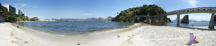 Rio de Janeiro Panorama Boa Viagem Beach Niteroi Stock Photos