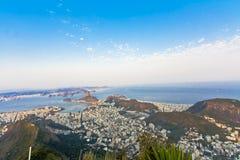 Rio de Janeiro. Panorama of the city of Rio de Janeiro as seen from the Corcovado mountain royalty free stock photos