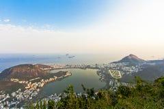 Rio de Janeiro. Panorama of the city of Rio de Janeiro as seen from the Corcovado mountain stock image