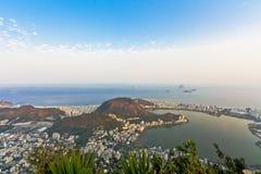 Rio de Janeiro. Panorama of the city of Rio de Janeiro as seen from the Corcovado mountain Royalty Free Stock Image