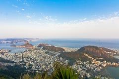 Rio de Janeiro. Panorama of the city of Rio de Janeiro as seen from the Corcovado mountain stock images