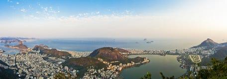 Rio de Janeiro. Panorama of the city of Rio de Janeiro as seen from the Corcovado mountain Royalty Free Stock Photo