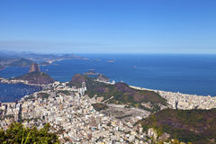 Rio de Janeiro panoramic aerial view with Sugar Loaf Royalty Free Stock Photography