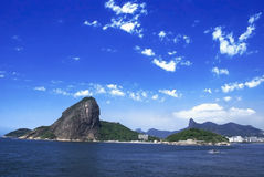 Rio De Janeiro. Panoramic view of Sugarloaf mountain and Corcovado at Rio de Janeiro Royalty Free Stock Photo