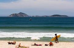 Rio de Janeiro, plage d'Ipanema Photographie stock