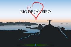 Rio De Janeiro postcard. Vector illustration of Rio De Janeiro Royalty Free Stock Image