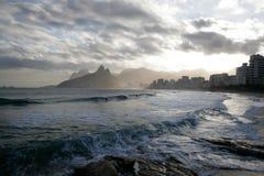 Rio de Janeiro romantyczny widok obraz royalty free