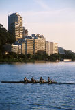 Rio de Janeiro, Rowing on Lake Royalty Free Stock Photos