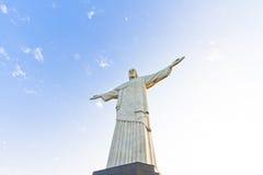 Rio de Janeiro's Christ the Redeemer statue. RIO DE JANEIRO, BRAZIL - SEPTEMBER 8, 2012: View of the statue of Christ the Redeemer after its renewal. September 8 stock images