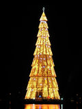 Rio de Janeiro?s christmas tree. Lagoa Christmas Tree, a floating megastructure standing 82 meters tall over the Rodrigo de Freitas Lagoon in Rio de Janeiro stock photos