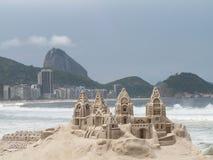 Rio De Janeiro Sand Sculpture lizenzfreie stockfotos