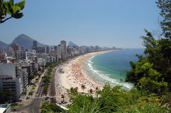 Rio de Janeiro Seashore. A view of Ipanema and Leblon beach, one of the most beautiful beach of Rio de Janeiro stock image