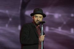 Justin Timberlake. Rio de Janeiro, September 18, 2017. Singer Justin Timberlake, during the presentation of his show at Rock in Rio 2017 in Rio de Janeiro royalty free stock images