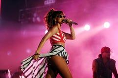 Rihanna. RIO DE JANEIRO, September 11, 2011 - Singer RIHANNA  the show, during the Rock in Rio. in Rio de Janeiro Stock Images