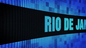 RIO DE JANEIRO side Text Scrolling LED Wall Pannel Display Sign Board