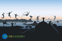 Rio De Janeiro skyline Stock Images