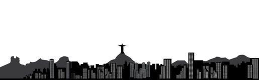 Rio de janeiro skyline Royalty Free Stock Photos
