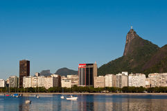 Rio de Janeiro Skyline with Corcovado Stock Photo