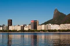 Rio de Janeiro Skyline with Corcovado Royalty Free Stock Photography