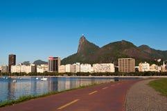 Rio de Janeiro Skyline with Corcovado Royalty Free Stock Photo