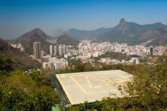 Rio de Janeiro Skyline with Helipad Royalty Free Stock Photo