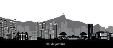 Rio de janeiro skyline Stock Photography