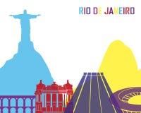 Rio de Janeiro skyline pop. In editable vector file Stock Photos