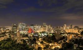 Rio de Janeiro skyscrapers night panorama Stock Photo
